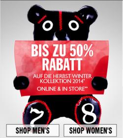 DIESEL Bis zu 50% Rabatt auf die Herbst Winter Kollektion 2014 Online & Lokal @Diesel.com