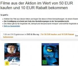 DVD & Blu-ray: Für 50 € kaufen und 10 € Rabatt bekommen @Amazon