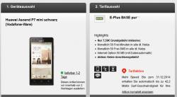 E-Plus BASE pur mit z.b. Huawei Ascend P7 mini ( 1 € Zuzahlung ) für 7,50 € mtl. @ Handyflash