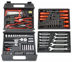 Famex 255-76 Universal-Werkzeugkoffer 156 Teile für 39,90 € (59,99 € Idealo) @Notebooksbilliger
