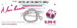 Herzanhänger aus silber mit Halskette + Geschenkbox für 9,99 € + 5 € / 10 € Gutschein @ Silvity