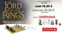 Hobbit III das Herr der Ringe Schachspiel statt 79,95 € für 35,95 € @elfen.de