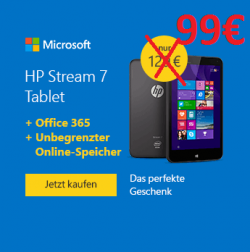 HP Stream 7 Signature Edition Tablet für 99€ inkl. Versand [idealo 129€] @Microsoftstore