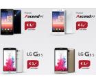 Huawei Ascend P7 oder LG G3 s (je 1 € Zuzahlung) + Internet-Flat + 100 Freiminuten + 3000 Frei-SMS für 9,90 € mtl. @Sparhandy