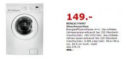 IKEA Knut Winterschlussverkauf z.b  IKEA Waschmaschine Renlig FWM7 statt 499 € für nur 149 €