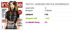 InStyle Jahresabo, kostenlos und selbstkündigend statt 48 € @ Abogratis