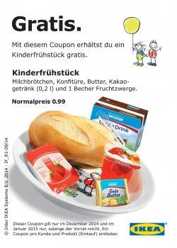 Kinderfrühstück gratis bei IKEA im Dezember und Januar