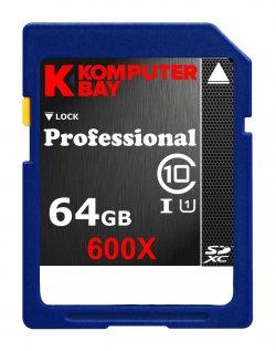 Komputerbay UHS-I 600X SDXC Class 10 Flash 64GB für 18 € (39,00 € Idealo) @Amazon