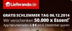 Lieferando Gutschein über 8,-€ zum Nikolaus ! Einlösbar über App ohne Mindestbestellwert !