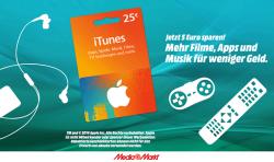 [Lokal Bundesweit] 25 € für 20 € iTunes Karte in den Mediamarkt Filialen am 27.12.