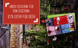 [Lokal Bundesweit] Bis 24.12. IKEA Geschenkkarte kaufen und 10% Extraguthaben bekommen