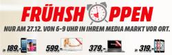 Media Markt & Saturn Frühshopping Angebote am 27.12.2014 von 6 – 9 Uhr