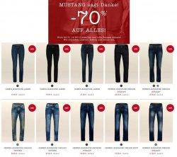 Mustang – großer Ausverkauf Sale mit bis zu 70% Rabatt. z.B. Jeans ab 19,95 €