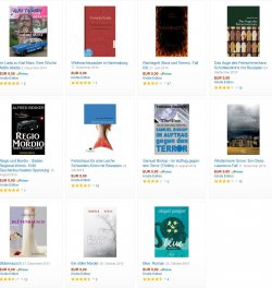 Neue gratis-eBooks, zB. der Mystery Krimi BLUE(4*), Printversion kostet 14,50€