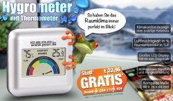 PEARL.de : Digitales Hygrometer mit Thermometer für 0,-€ (statt 22€) dazubestellen oder einzeln mit Versandkosten