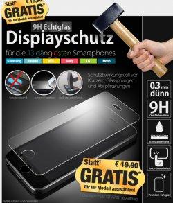 @pearl: Gratis Panzerglas Folie fürs Handy Samsung, iphone, HTC,Sony, LG, Motorola