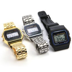 Retro Digital Armbanduhren für ca 2,61 € inkl. Versand ( China ) [ idealo 6,49 € ] @ Ebay