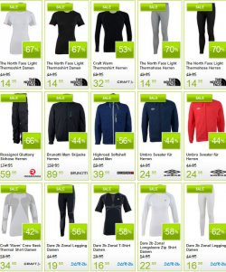 Sale auf Wintersportbekleidung  bis zu 75% Rabatt + 5€ Gutschein @Plutosport