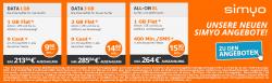 Simyo: 1GB LTE rechnerisch für 0,99€, 3GB LTE nur 2,99€, 400 Einheiten + 1GB LTE nur 4,90€ @Preisboerse24
