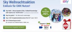Sky Welt inkl. Wunschpaket z.B. Bundesliga ) + 50€ BestChoice Gutschein für 16,90€ mtl. @GMX