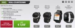@sparhandy: 7,50€ / Monat Base 50Min, 50SMS, 50MB Internet, + gratis Smartwatch (Wert ca. 250€) nach Wahl