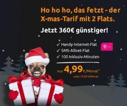 T-Mobile Flat ligt 100 statt 19,99€ für nur 4,99€ mtl. @Crashtarif