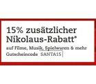 thaila.de Gutschein über 15% auf Filme, Musik, Hörbücher, Spielwaren, auch auf reduzierte Waren!
