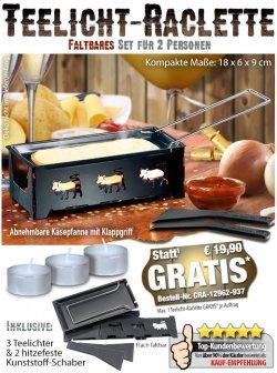 Tolles Raclette für 2 Personen GRATIS @ Pearl, nur VSK