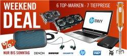Weekend-Deals: 6 Top Marken zu Tiefpreisen @Cyberport, z.B. WD Elements Portable 750 GB für nur 46,99€ (Idealo: 53,99€)