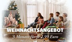 Weihnachtsangebot: 3 Monate Watchever für 2,99€ @Watchever