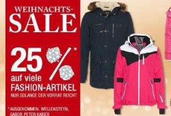 Weihnachtssale bei Galeria Kaufhof bis zu 25 % Rabatt auf viele Fashion Artikel