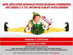 Zwei 10 % Gutscheine für WOWHD Gültig bis zum 23.12.2014