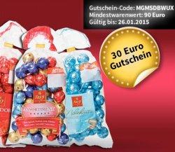 10EUR oder 30EUR Gutschein auf Schweizer Spezialitäten @migros-shop.de