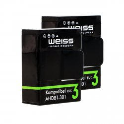 2x GoPro 3+ / 3 Akku von Weiss für 11,89€ inkl. Versand bei Amazon