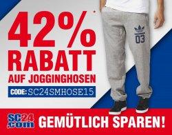 42% Rabatt auf alle Jogginghosen @SC24.com!