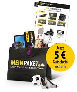 5 € Gutschein für Newsletteranmeldung @Meinpaket