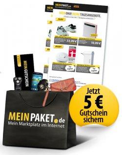 5 € meinpaket.de Gutschein mit 9,99 € MBW für Gewinnspielteilnahme @billiger.de