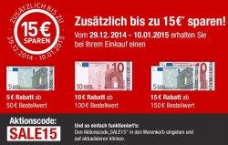 Aktion bei Galeria-Kaufhof.de: Bis zu 15€ Rabatt mit Gutscheincode, z.B. Zwilling Joy Topfset 5-teilig für 94,99€ (Idealo: 129€)