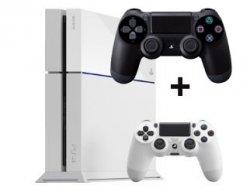 Aktion bei MediaMarkt: PlayStation 4 Konsole weiß + 2ten Controller für 399€ (Idealo: 431€)