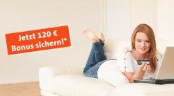Beitragsfreies Girokonto + gratis Visa-Karte + 120 € Bonus @ Wüstenrot