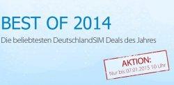 Best of 2014 Aktion bis 7.1 bei deutschlandsim.de: 250 Freiminunten & 1GB INEt-Flat für 8,95€ im Monat (monatl. kündbar!)