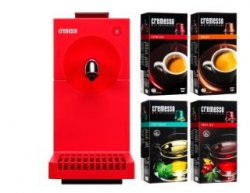 CREMESSO Cremesso Uno Bundle fire red inkl. 4 Packungen Kapseln für 19 €  [ Idealo 50,46 € ] @ MediaMarkt