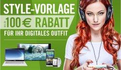 Cyberport mit bis zu 100€ Rabatt Aktion für digitales Outfit ab Donnerstag den 22.01