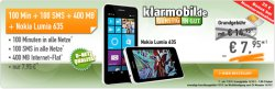 D-Netz Klarmobil: Nokia 635 + Allnet Starter 100 Freiminuten + 100 Frei SMS + 400 MB Internet Flat für 7,95 € mtl. @ Handybude