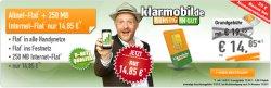 D1 Klarmobile: Telekom Allnetflat ab 14,85€ @Handybude