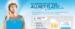 D1-Netz: Sparhandy Allnet-Flat S, Flat ins dt. Mobilfunk & Festznetz, 250 MB Internet für 12,90€ mtl.