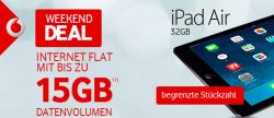 D2-Netz: Vodafone Internetflat 6GB oder 15GB + [B-Ware] Apple iPad Air 32GB LTE ab 18,99€ mtl @Modeo