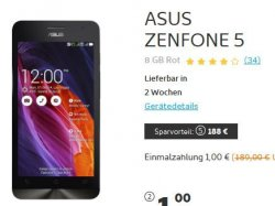 E-Plus Netz: Simyo All-On (1GB , 200 Min/SMS) für 11,90€ mtl. + Asus Zenphone 5 für 1€ @Handyshop