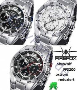 FIREFOX SKYWOLF Edelstahl Chronograph FFS200-102b für 129€ oder FFS200-102b für 154€ inkl. Versand  [idealo 249€] @ebay
