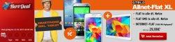 Hero Deal Otelo D-Netz Allnet Flat XL mit Samsung  Galaxy S4/5 Mini oder HTC One Mini + Samsung Galaxy tab 4 10.1 WiFi für 29,99€ mtl. @ Handytick